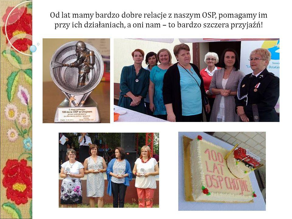 Od lat mamy bardzo dobre relacje z naszym OSP, pomagamy im przy ich działaniach, a oni nam – to bardzo szczera przyjaźń!