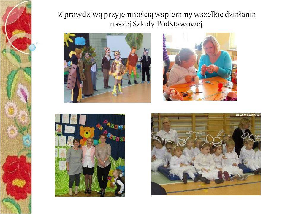 Z prawdziwą przyjemnością wspieramy wszelkie działania naszej Szkoły Podstawowej.