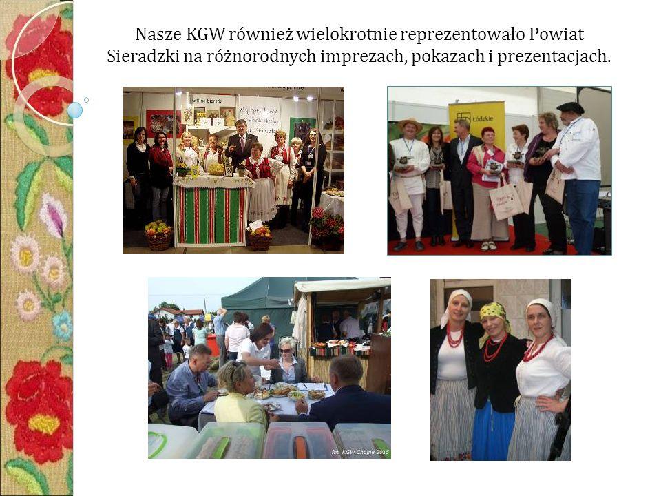 Nasze KGW również wielokrotnie reprezentowało Powiat Sieradzki na różnorodnych imprezach, pokazach i prezentacjach.