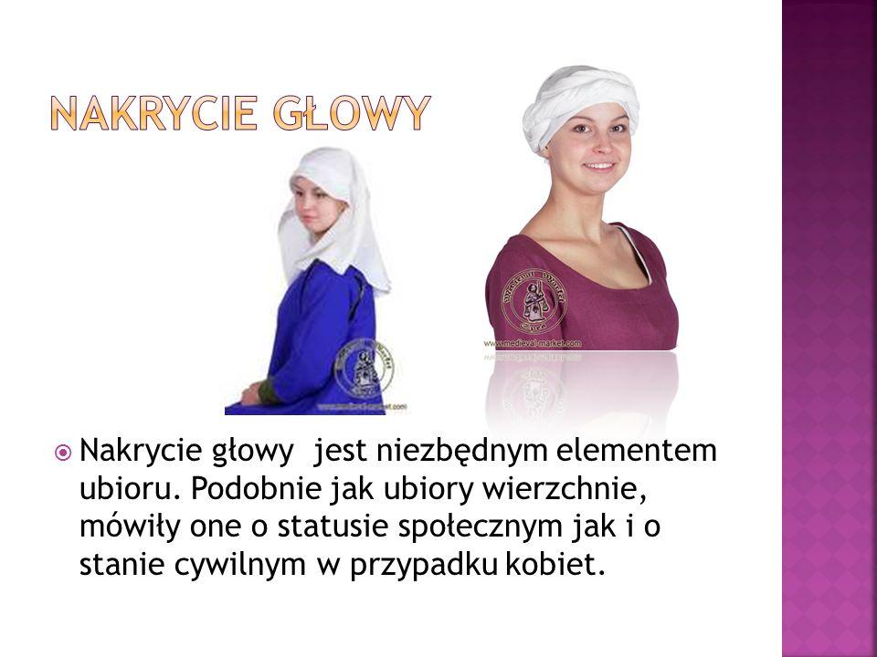  Nakrycie głowy jest niezbędnym elementem ubioru. Podobnie jak ubiory wierzchnie, mówiły one o statusie społecznym jak i o stanie cywilnym w przypadk