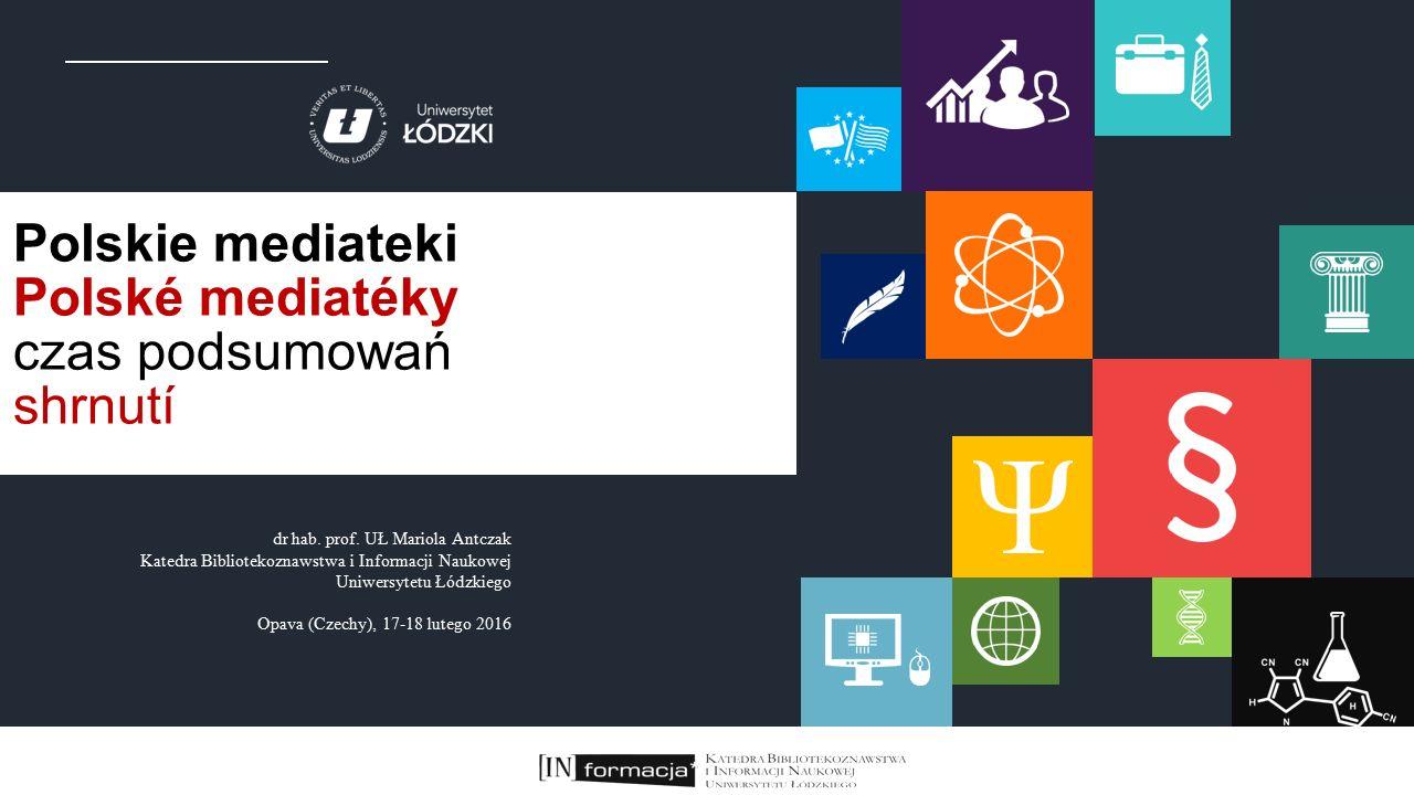 Liczba stanowisk komputerowych z dostępem do Internetu dla użytkowników w polskich mediatekach Počet míst s počítačem a připojením k internetu v polských mediatékách stan na 2014 r.
