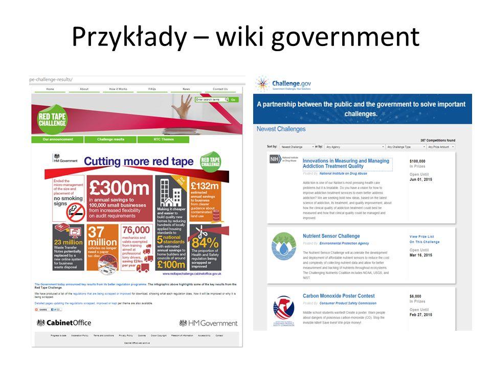 Przykłady – wiki government