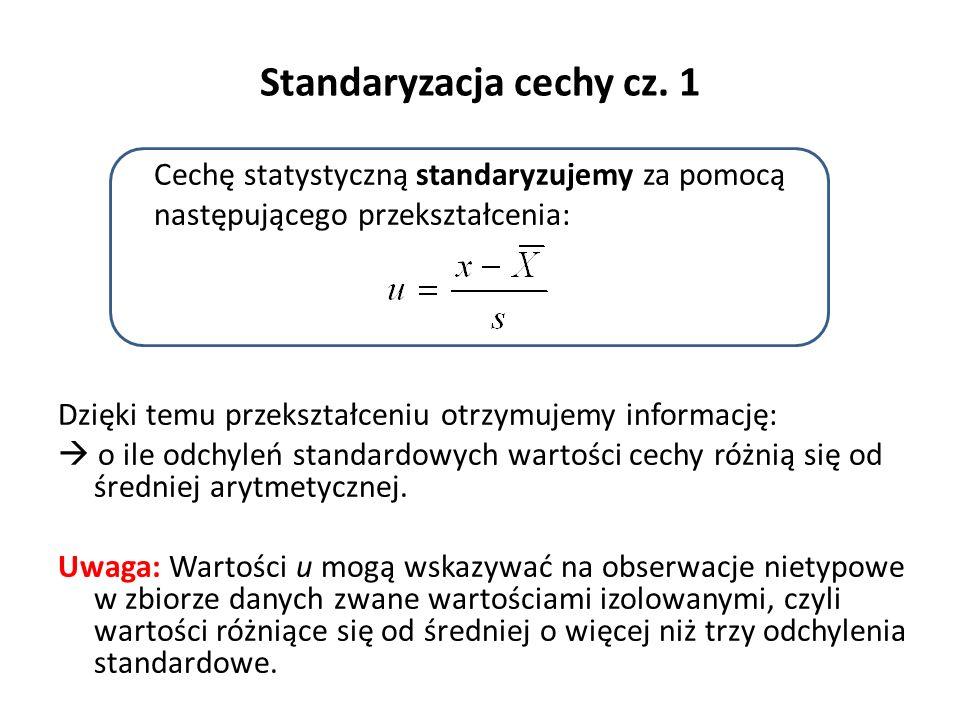 Standaryzacja cechy cz.