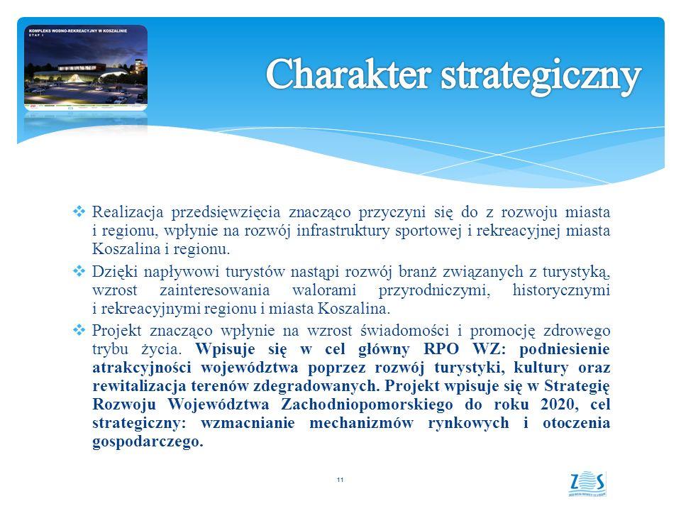  Realizacja przedsięwzięcia znacząco przyczyni się do z rozwoju miasta i regionu, wpłynie na rozwój infrastruktury sportowej i rekreacyjnej miasta Koszalina i regionu.