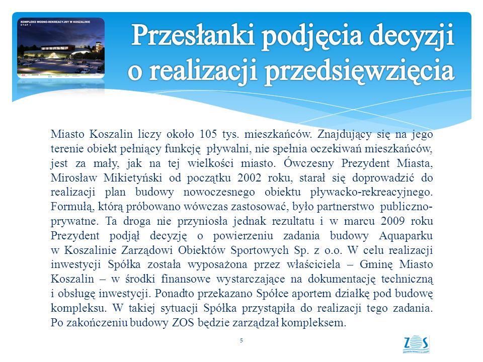 Miasto Koszalin liczy około 105 tys.mieszkańców.