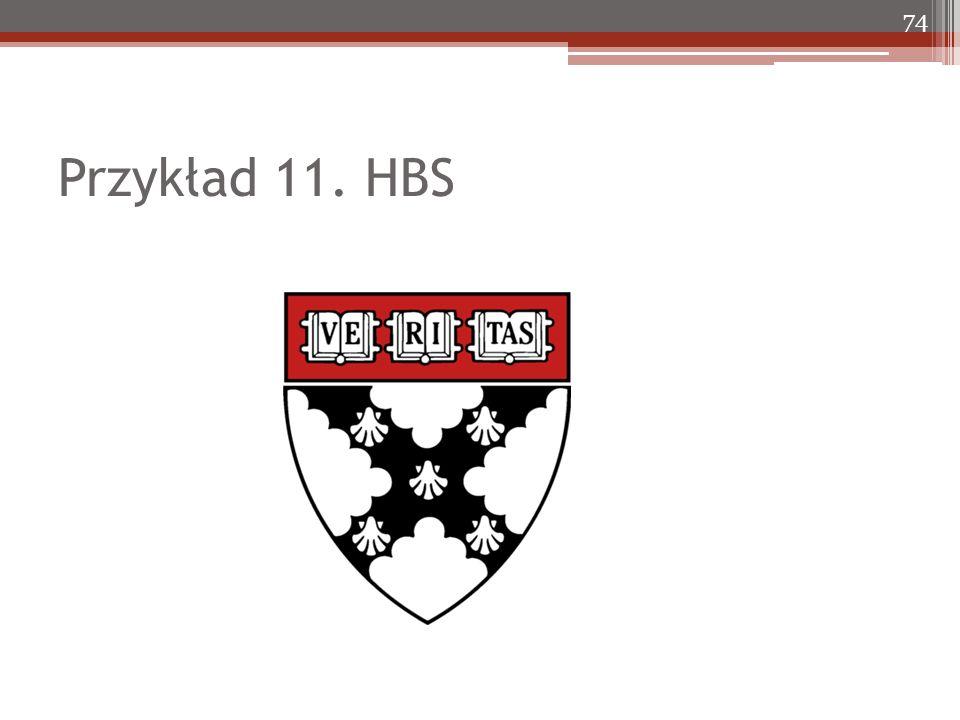 Przykład 11. HBS 74