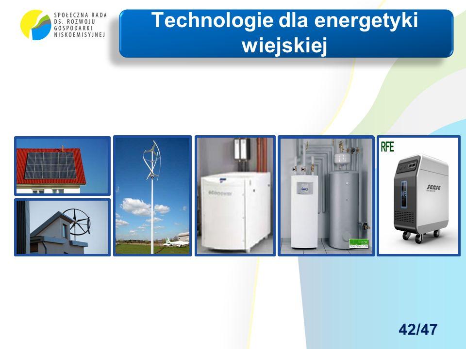 Technologie dla energetyki wiejskiej 42/47