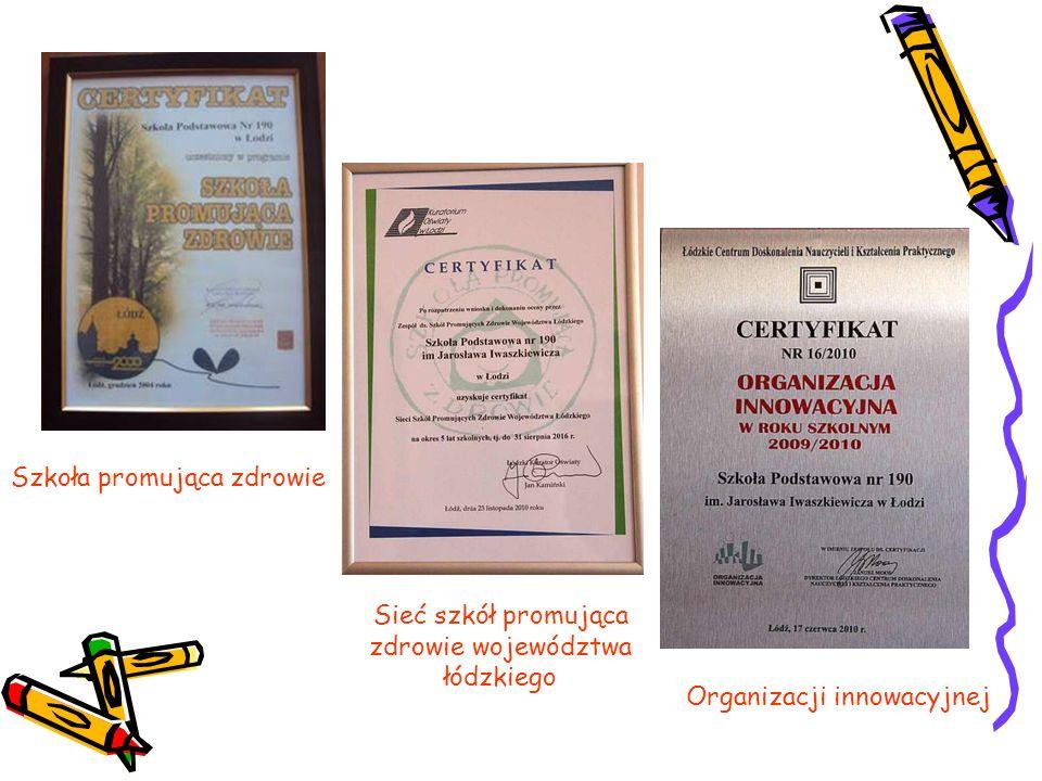 Szkoła promująca zdrowie Sieć szkół promująca zdrowie województwa łódzkiego Organizacji innowacyjnej