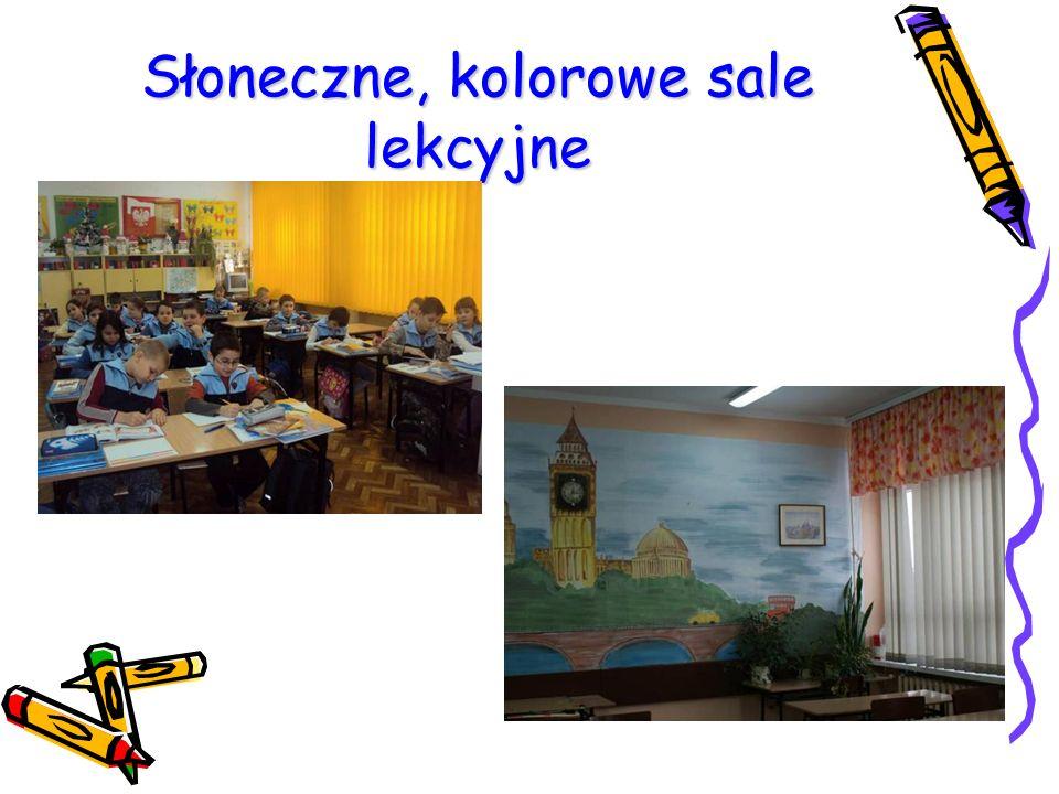 Słoneczne, kolorowe sale lekcyjne