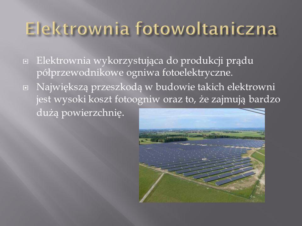  Elektrownia wykorzystująca do produkcji prądu półprzewodnikowe ogniwa fotoelektryczne.