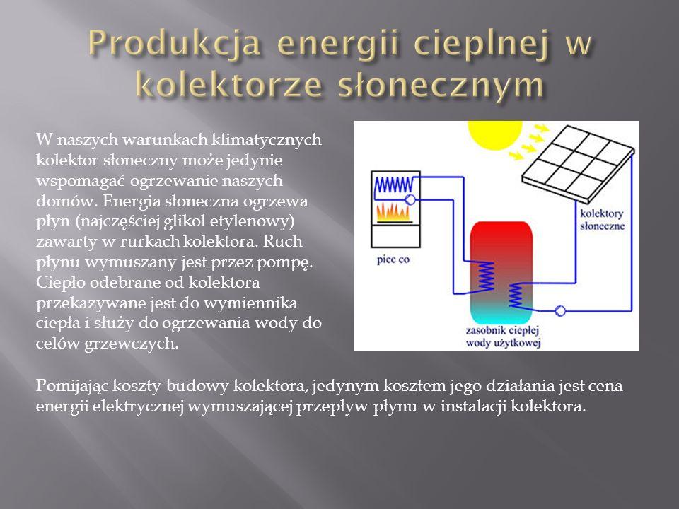 W naszych warunkach klimatycznych kolektor słoneczny może jedynie wspomagać ogrzewanie naszych domów.