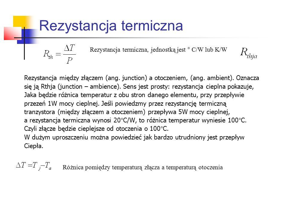 Rezystancja termiczna Rezystancja między złączem (ang.
