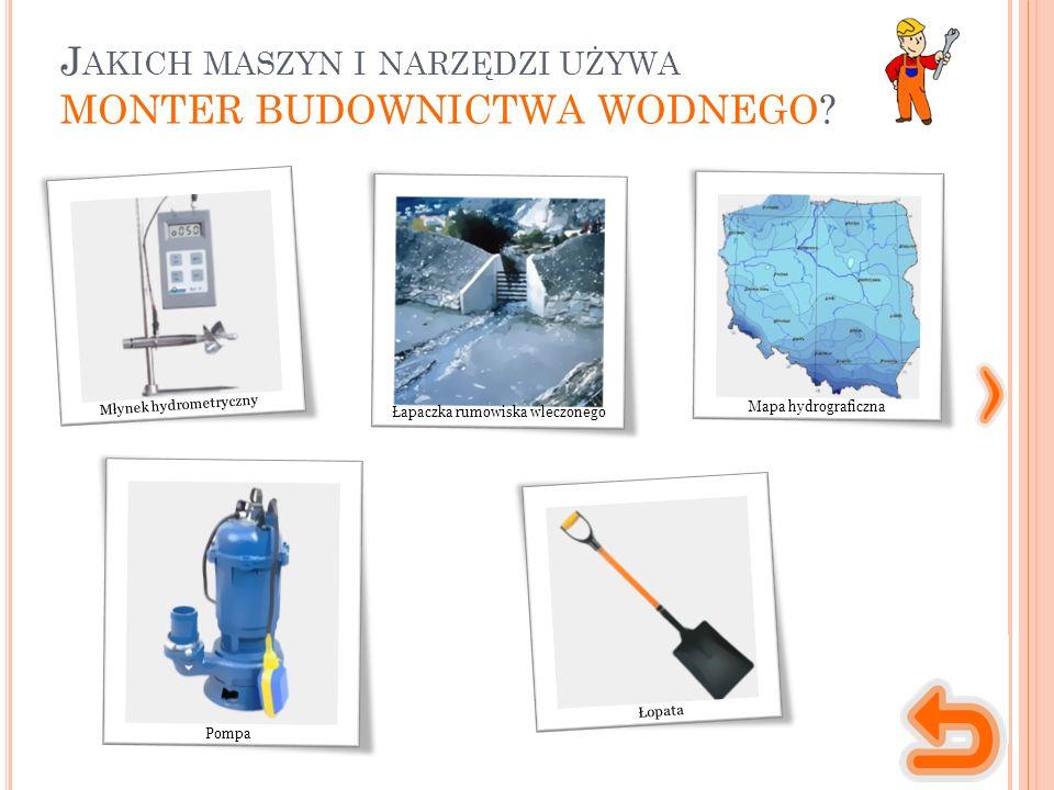 M ASZYNY, NARZĘDZIA, MATERIAŁY urządzenie o formie wiatraka, które służy do pomiaru prędkości wody w danym punkcie.