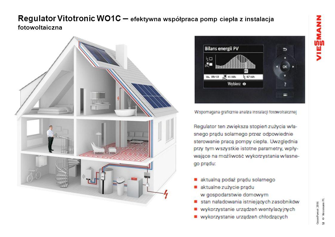 GreenPoweri 2016 Sjl © Viessmann PL Regulator Vitotronic WO1C – efektywna współpraca pomp ciepła z instalacja fotowoltaiczna