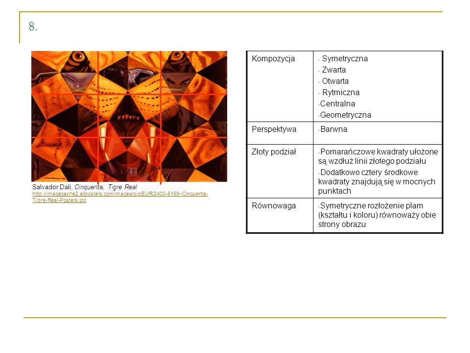 Salvador Dali, Cinquenta, Tigre Real http://imagecache2.allposters.com/images/pic/EUR/2400-5159~Cinquenta- Tigre-Real-Posters.jpg 8. Kompozycja Symetr