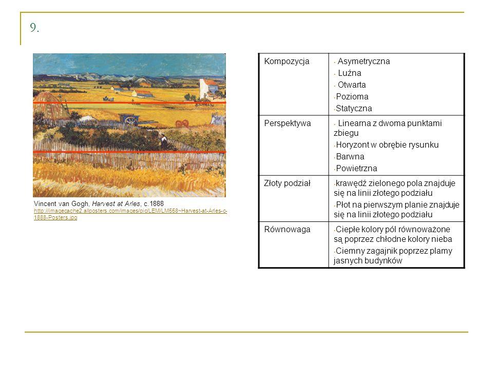9. Vincent van Gogh, Harvest at Arles, c.1888 http://imagecache2.allposters.com/images/pic/LEM/LM558~Harvest-at-Arles-c- 1888-Posters.jpg Kompozycja A