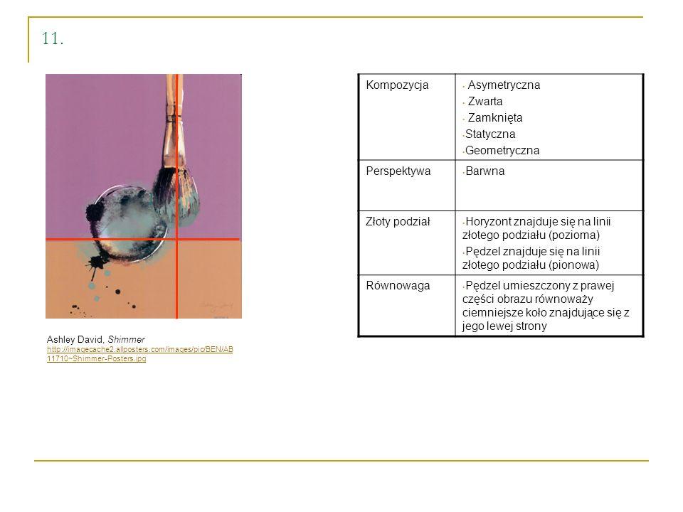 11. Ashley David, Shimmer http://imagecache2.allposters.com/images/pic/BEN/AB 11710~Shimmer-Posters.jpg Kompozycja Asymetryczna Zwarta Zamknięta Staty