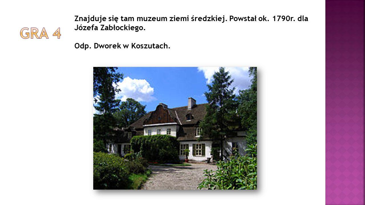Znajduje się tam muzeum ziemi średzkiej. Powstał ok. 1790r. dla Józefa Zabłockiego. Odp. Dworek w Koszutach.