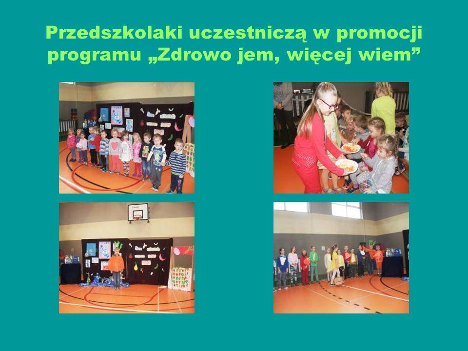 """Przedszkolaki uczestniczą w promocji programu """"Zdrowo jem, więcej wiem"""