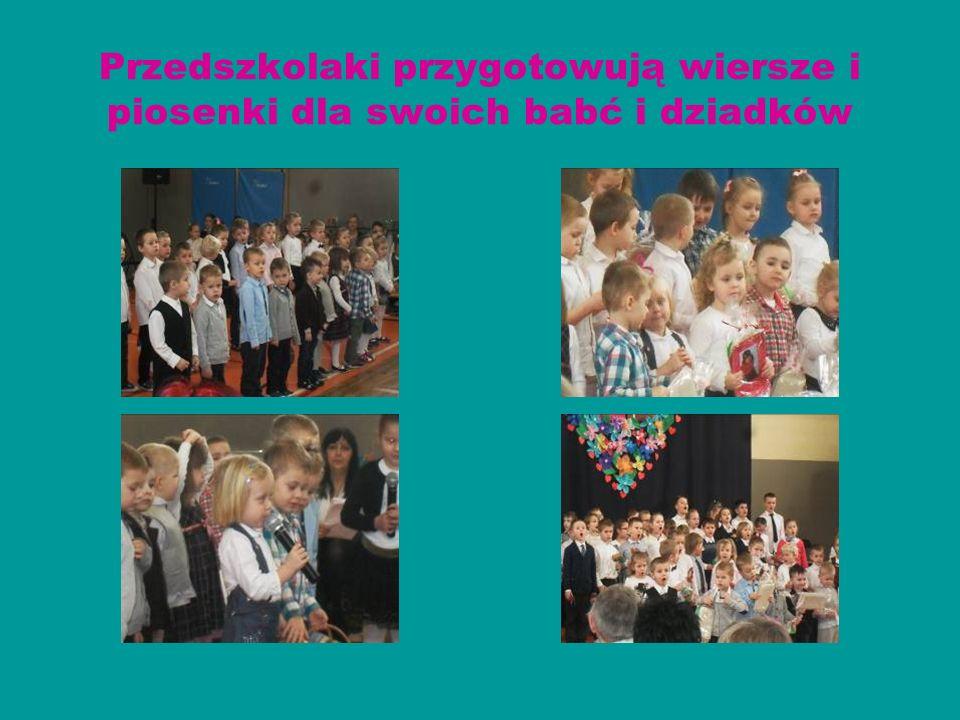 Przedszkolaki przygotowują wiersze i piosenki dla swoich babć i dziadków