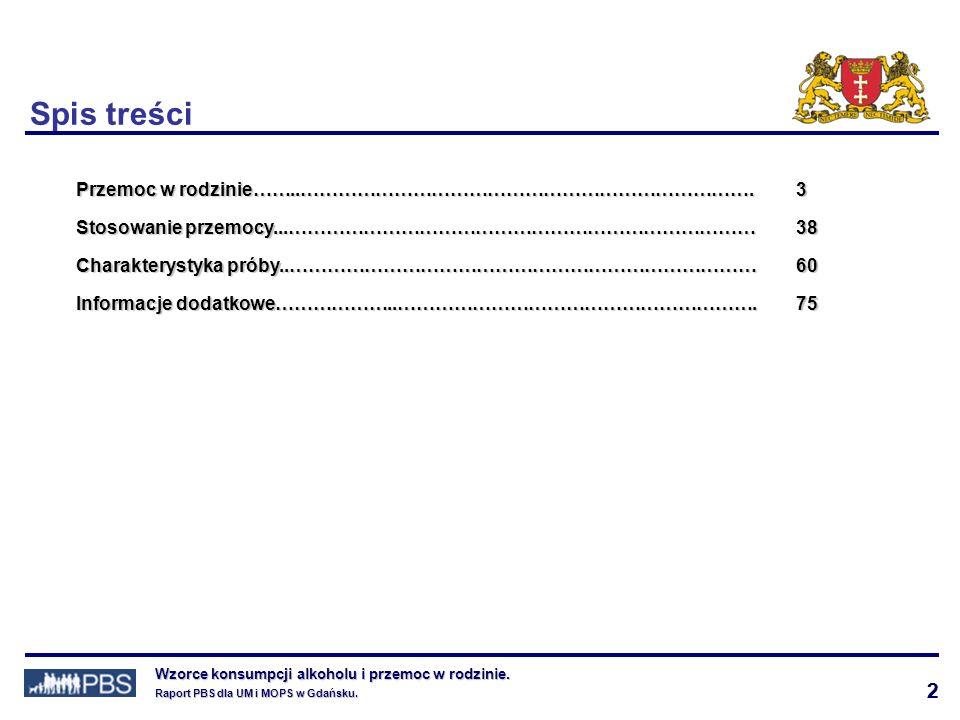 43 Wzorce konsumpcji alkoholu i przemoc w rodzinie.