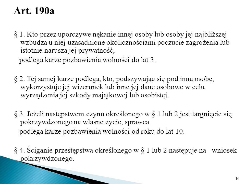 Art. 190a § 1.