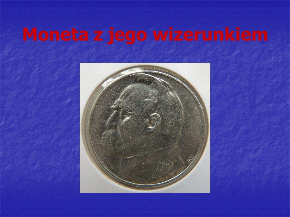 Moneta z jego wizerunkiem
