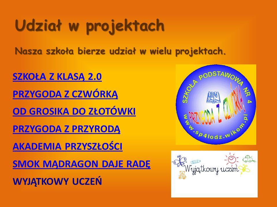 Udział w projektach Nasza szkoła bierze udział w wielu projektach.