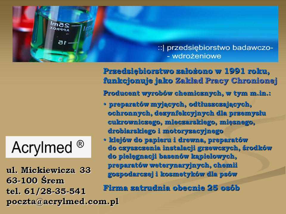 ul. Mickiewicza 33 63-100 Śrem tel.
