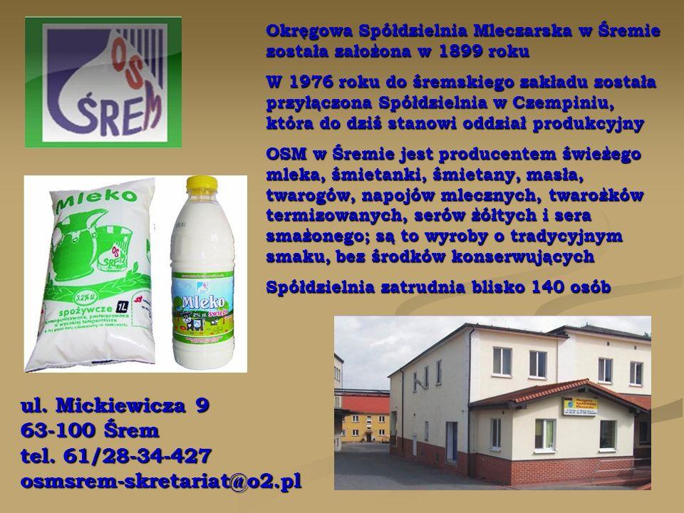 ul.Poznańska 1 63-020 Zaniemyśl tel.