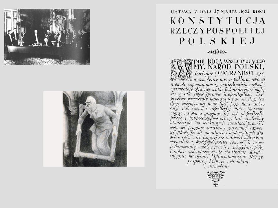 Konstytucja marcowa została uchwalona przez Sejm Ustawodawczy w dniu 17 III 1921 r.