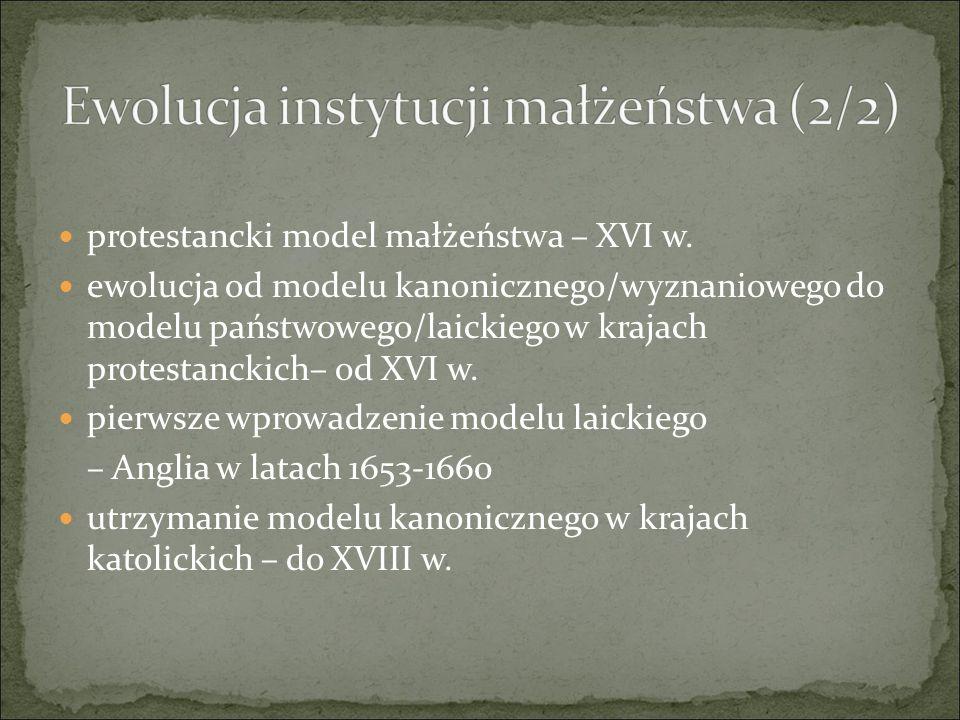 protestancki model małżeństwa – XVI w.