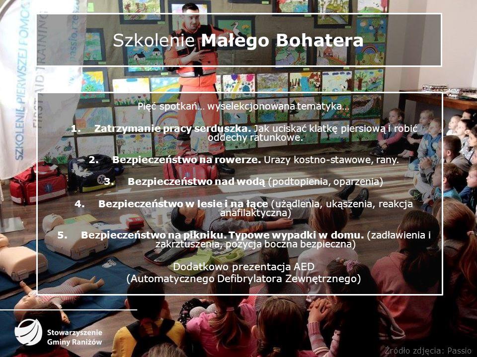 Szkolenie Małego Bohatera Pięć spotkań… wyselekcjonowana tematyka… 1.Zatrzymanie pracy serduszka.