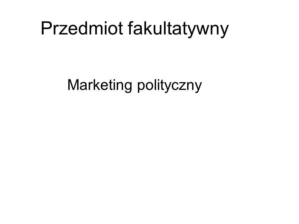 Przedmiot fakultatywny Marketing polityczny