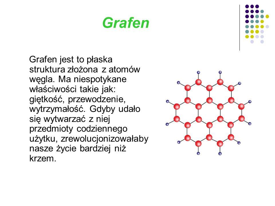Grafen Grafen jest to płaska struktura złożona z atomów węgla.