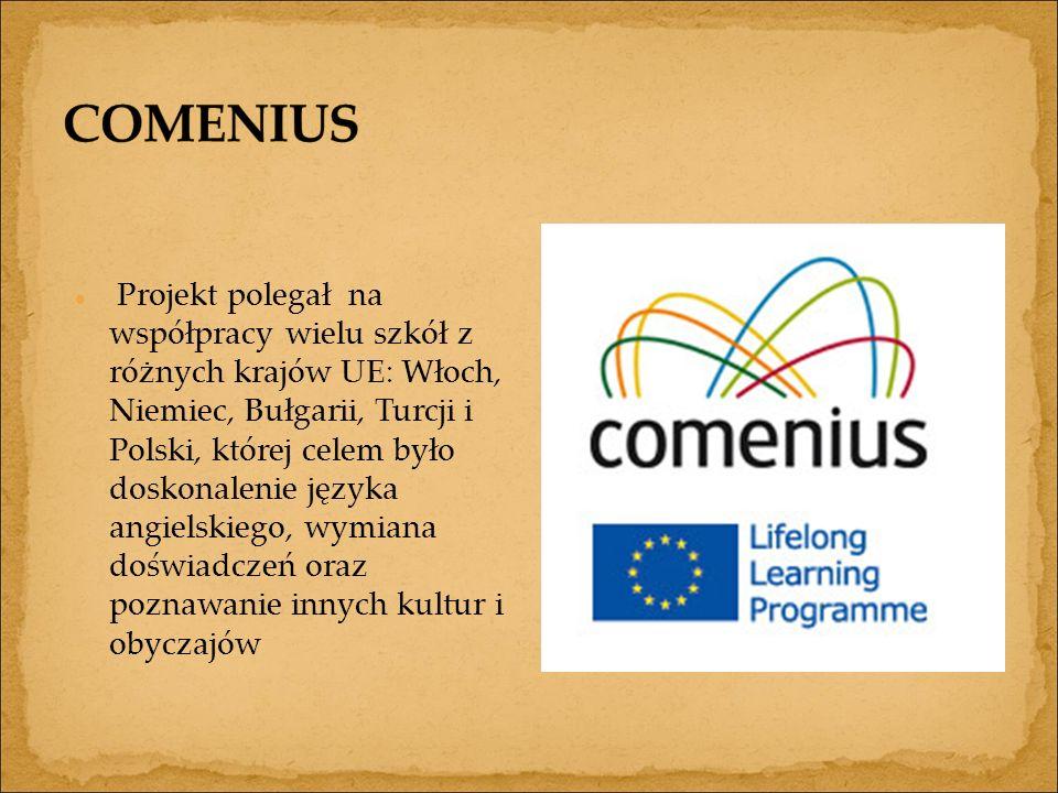 Projekt polegał na współpracy wielu szkół z różnych krajów UE: Włoch, Niemiec, Bułgarii, Turcji i Polski, której celem było doskonalenie języka angielskiego, wymiana doświadczeń oraz poznawanie innych kultur i obyczajów