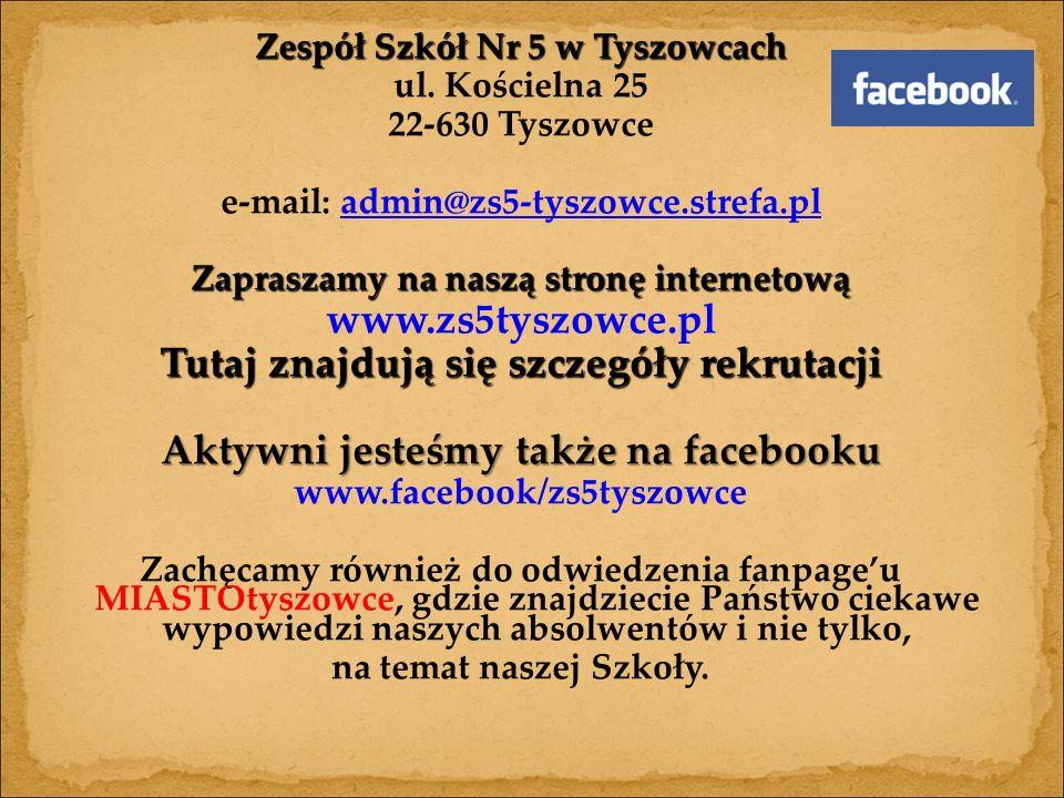 Zespół Szkół Nr 5 w Tyszowcach ul.