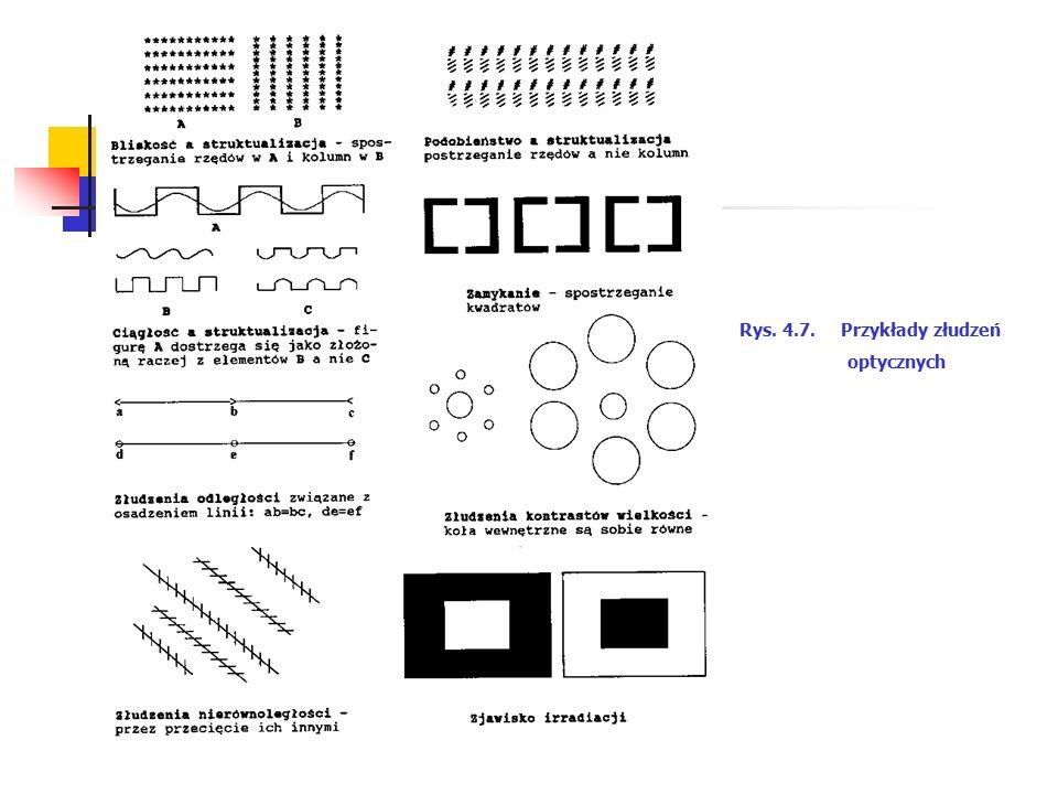 Rys. 4.7. Przykłady złudzeń optycznych
