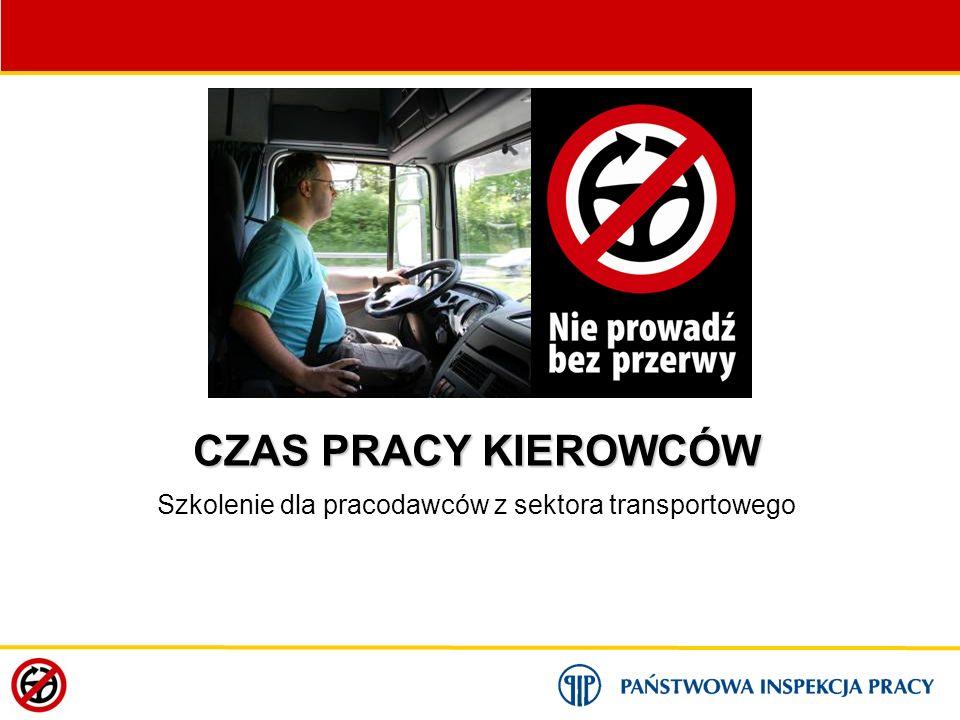 MODUŁ 3: Przepisy prawne i rozliczanie czasu pracy kierowców opracowanie: Małgorzata Staszewska, Waldemar Adametz Państwowa Inspekcja Pracy