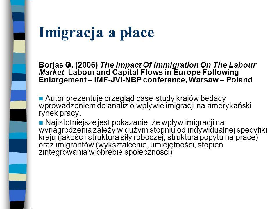 Imigracja a płace Borjas G.