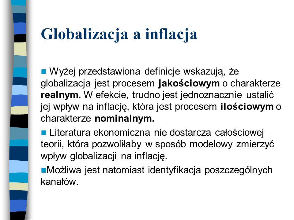 Przegląd literatury Globalizacja a rynek pracy