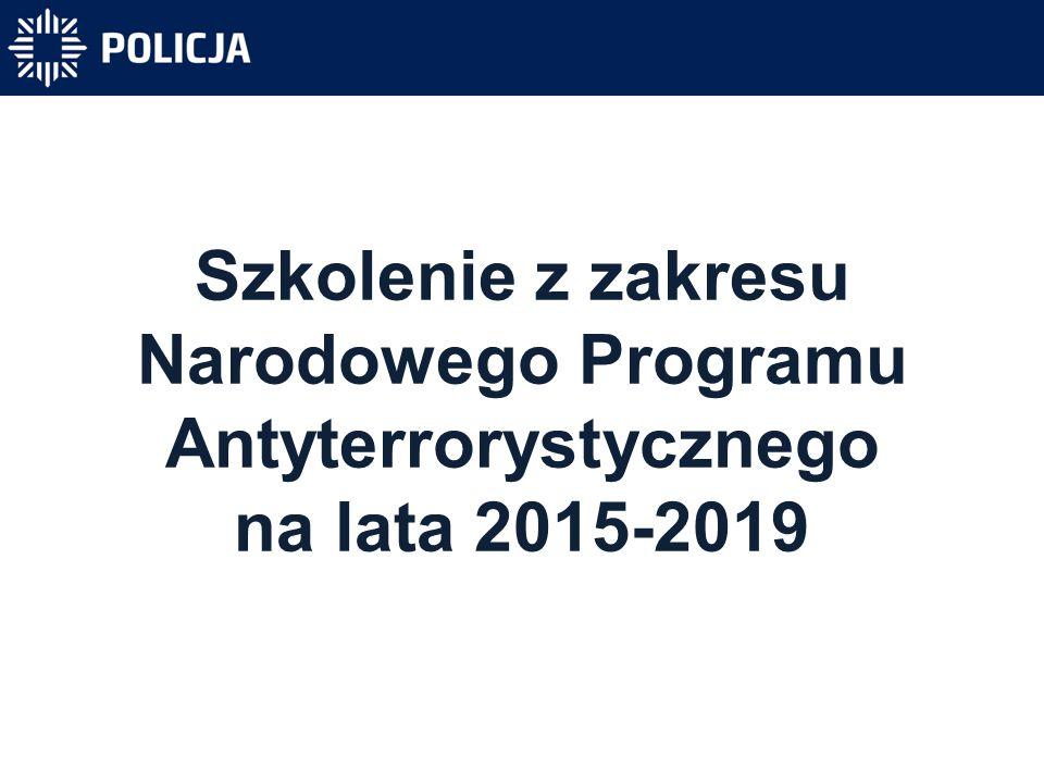 Szkolenie z zakresu Narodowego Programu Antyterrorystycznego na lata 2015-2019