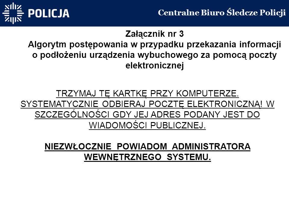 Centralne Biuro Śledcze Policji TRZYMAJ TĘ KARTKĘ PRZY KOMPUTERZE.