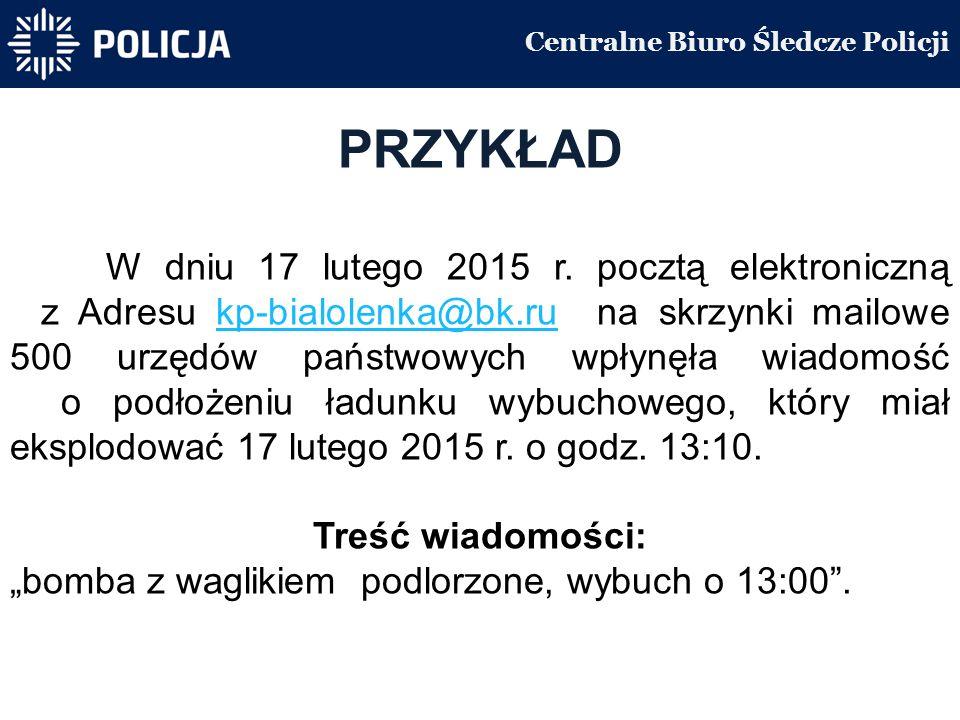 Centralne Biuro Śledcze Policji PRZYKŁAD W dniu 17 lutego 2015 r.