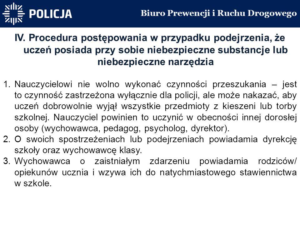 Biuro Prewencji i Ruchu Drogowego IV.