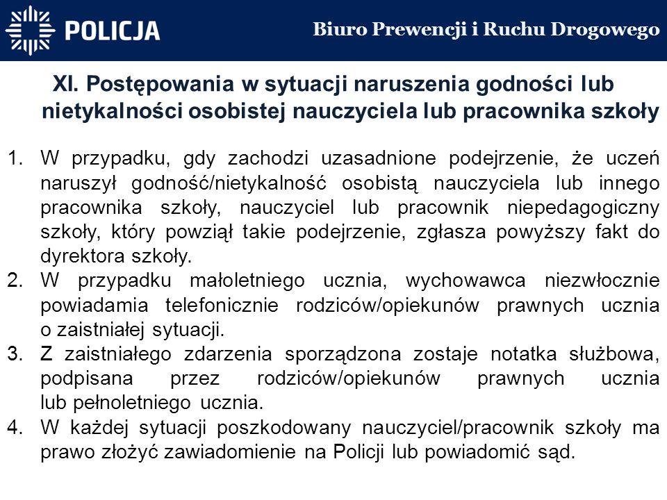 Biuro Prewencji i Ruchu Drogowego XI.