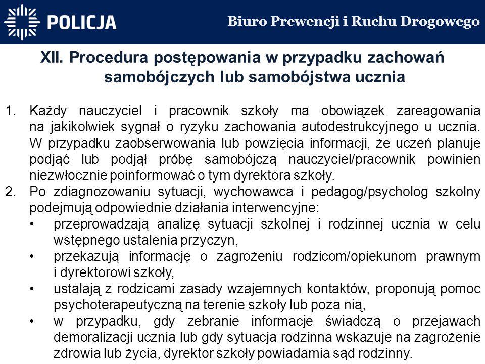 Biuro Prewencji i Ruchu Drogowego XII.