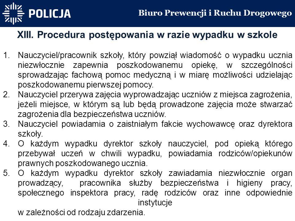 Biuro Prewencji i Ruchu Drogowego XIII.