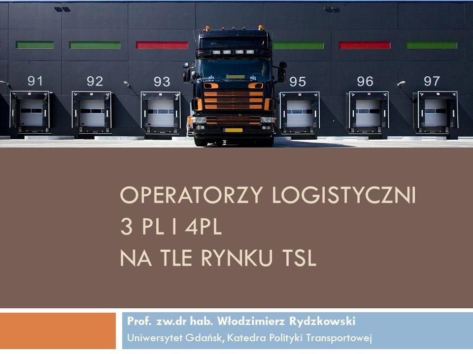 OPERATORZY LOGISTYCZNI 3 PL I 4PL NA TLE RYNKU TSL Prof.