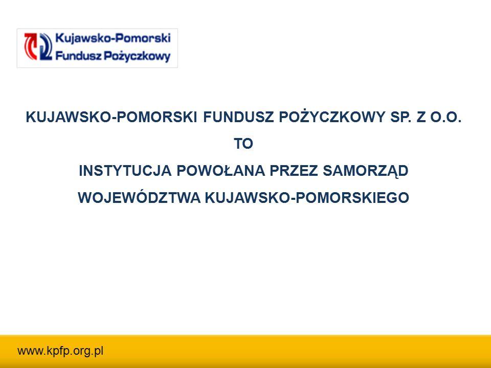 Województwo Kujawsko-Pomorskie – 91,25% UDZIAŁOWCY KPFP: Toruńska Agencja Rozwoju Regionalnego SA – 8,75% www.kpfp.org.pl